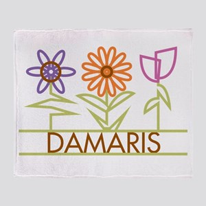 Damaris with cute flowers Throw Blanket